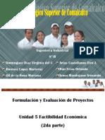 Formulación y Evaluación de Proyectos unidad 5 (2da parte)