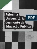 Cartilha Reforma Universitaria