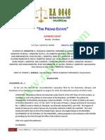 The Piedad Estate - Final Jurisprudence