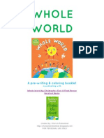 WHOLE WORLD Prewriting Booklet