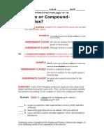 Complex or Compound-Complex