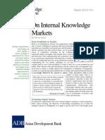 On Internal Knowledge Markets
