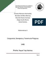 Congruencia semejanza y teorema de Pítagoras