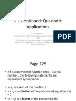 PreCalc Quad Applications