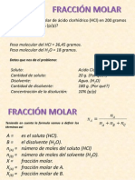 Fraccion Molar