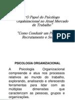 O Papel Do Psicologo Organizacional No Atual ATUALIZADO