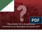 Accesibilidad Universal Municipios Espana