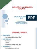 Jerarquía de la normativa peruana