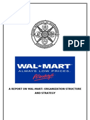 Wal-Mart_Org Structure and Strategy | Walmart | Supply Chain