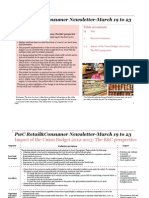 PwC Retail&Consumer Newsletter-- March 19 to 23, 2012