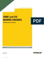 3406E+and+C15+Marine+Engines Maintenance+Intervals