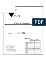 DI-10 Service Manual