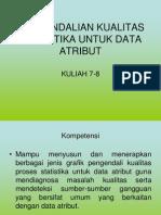 2914 Kuliah 7-8 Pengendalian Kualitas Statistika Untuk Data Atribut