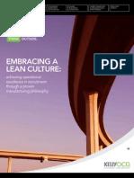 LEAN Whitepaper-Embracing a LEAN Culture