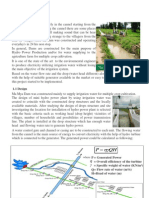 Micro Hydro by Irrigation Water
