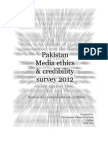 Pakistan media ethics & credibility survey 2012 - Section one