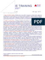 Pilula Training Nr. 45, 29 Sept 2011