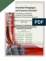 Informe Grupo Competencias Docentes