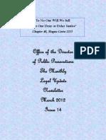 Newsletter 2014 1