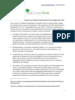 Recomendaciones La Ciudad Verde al Plan de Desarrollo de Barranquilla