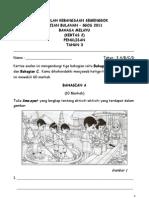 Soalan Penulisan -Kertas 2 Bahasa Melayu Tahun 3