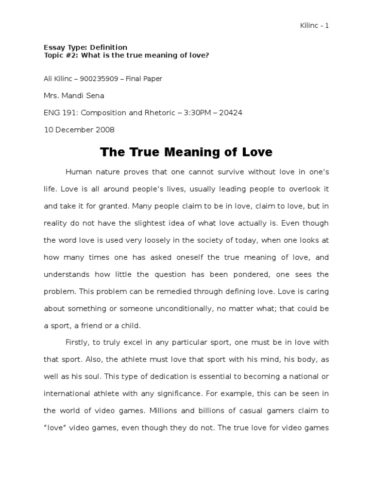 What is meaning of love  36 Definitions Of Love, According
