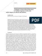From Foreigner Pedagogy to Intercultural Education (Faas, 2008)