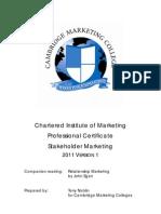 Stakeholder Marketing 2011 V1