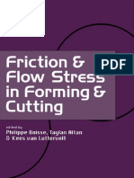 Friction and Flow Stress in Forming and Cutting