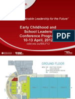 Full Program for 2012 Early Childhood and School Leaders Conference
