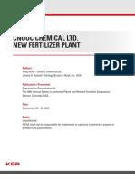 CNOOC Chemical Ltd New Fertilizer Plant