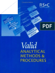 Valid Analytical Methods