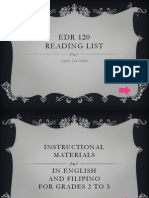 EDR 120 Reading List