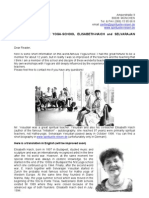 19861809 Information on the YogaSchool ElisabethHaich and Selvarajan Yesudian