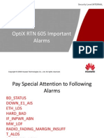 OptiX RTN 605 Important Alarms