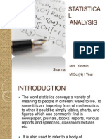 Statistical Analysis My Ppt