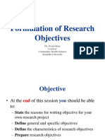 Formulation of Objective