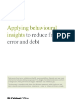 Behavioural Insights Team Paper on Fraud, Error and Debt