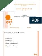 m2 b Linguagem C - Tipos de Dados Basicos
