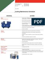Reciprocating Maintenance Checklist