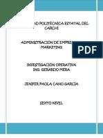 Ejercicios Investigacion Operativa