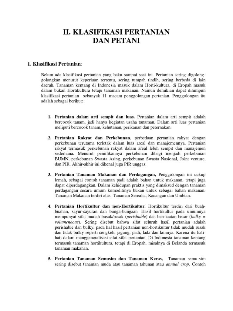 Sep 203 Handout Klasifikasi Pertanian Dan Petani