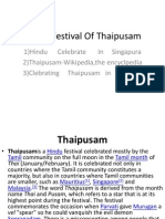 About Festival Thaipusam