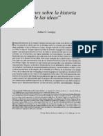Arthur O. Lovejoy - Reflexiones Sobre La Historia de Las Ideas