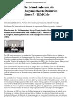100319 - Kurzfassung _ Die Islamkonferenz Als Instrument Des Hegemonialen Diskurses Gegenüber Muslimen