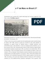 Anarquismo e 1 de Maio No Brasil - Lopes, Milton(1)