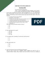 Mock Sample Test for BCam