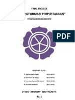 Perancangan Basis Data - Sistem Informasi Perpustakaan dengan Visual Basic 2010