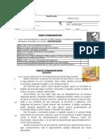 Teste escrito e oral LP8 -março. 2011-2012 - EVS