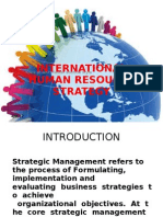 International Human Resourse Strategy